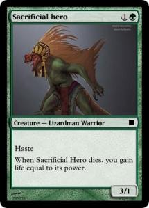 Sacrificial hero