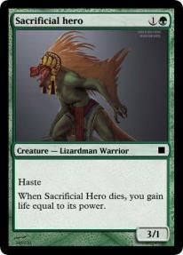 Sacrificial hero