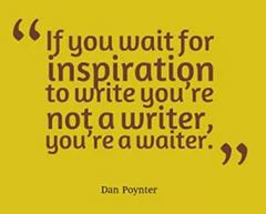 you're a waiter not a writer if yo uwait