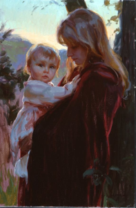 lady with kid